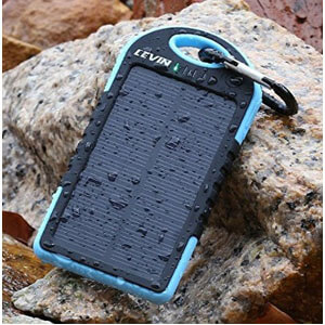 Levin 6000mAh Solar Panel Dual USB Port Portable Charger