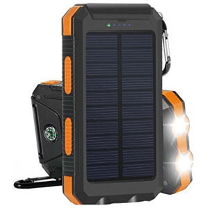 Solar External Backup Battery Pack Dual USB Solar Panel Charger