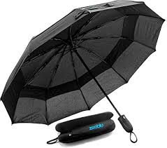 Zooblu WindFarer—Large Compact Travel Umbrella