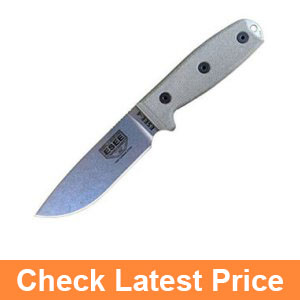 ESEE 4P-UC-MB Uncoated Fixed Blade Knife