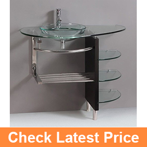 Contemporary Glass Vanity Combo SET with Shelfs