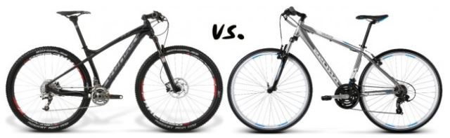 Mountain bike vs road bike