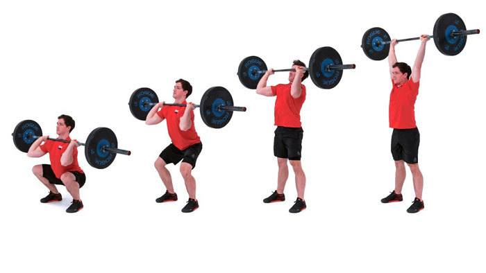 Dumbbell-thruster