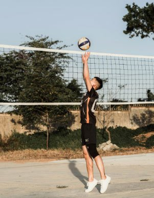 Playing-Volleyball