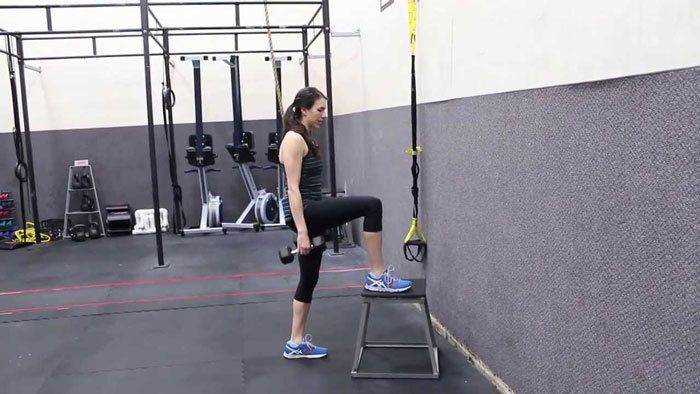 Step-up-with-inimical-lunge